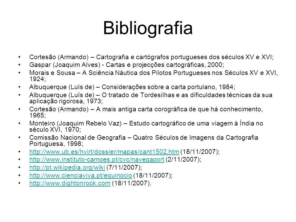 Bibliografia Cortesão (Armando) – Cartografia e cartógrafos portugueses dos séculos XV e XVI;