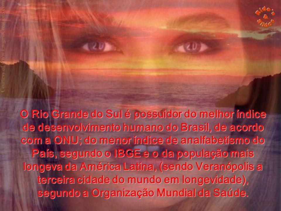 O Rio Grande do Sul é possuidor do melhor índice de desenvolvimento humano do Brasil, de acordo com a ONU; do menor índice de analfabetismo do País, segundo o IBGE e o da população mais longeva da América Latina, (sendo Veranópolis a terceira cidade do mundo em longevidade), segundo a Organização Mundial da Saúde.