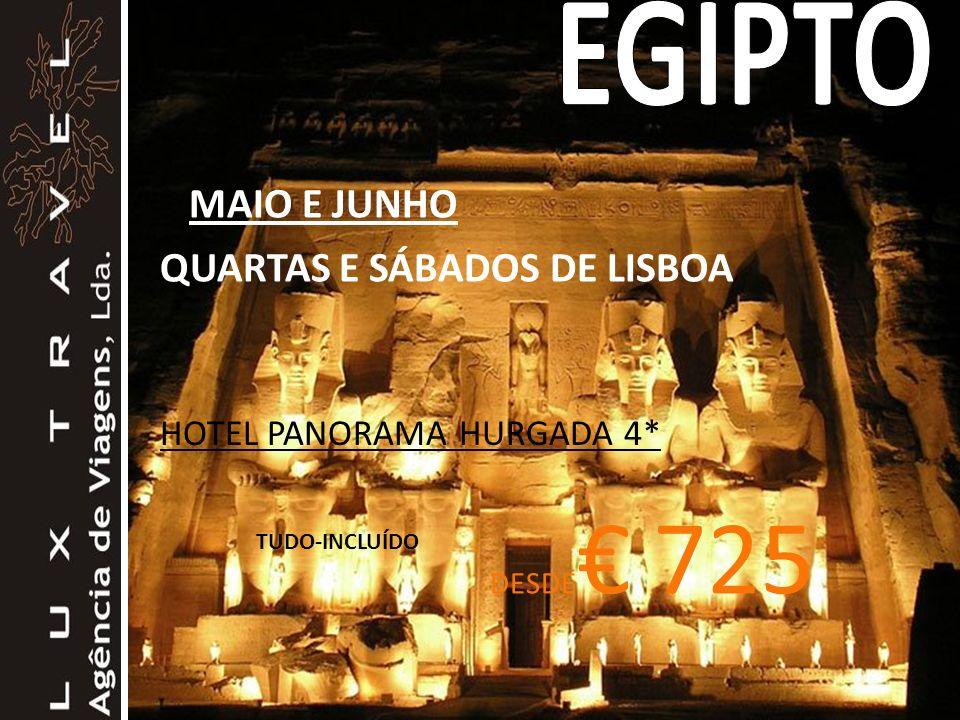 EGIPTO MAIO E JUNHO QUARTAS E SÁBADOS DE LISBOA
