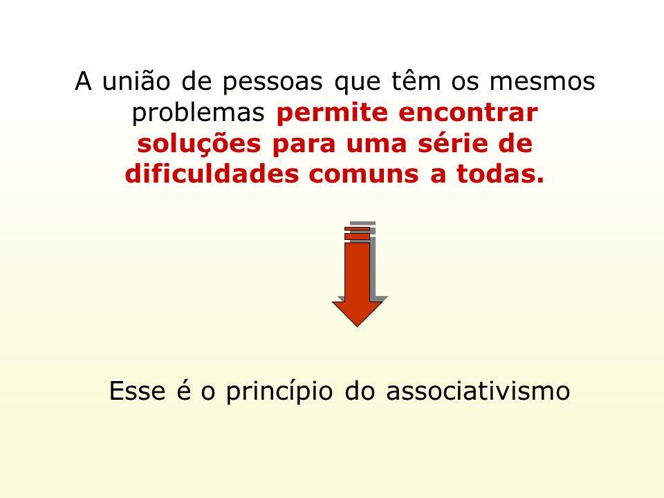 Esse é o princípio do associativismo