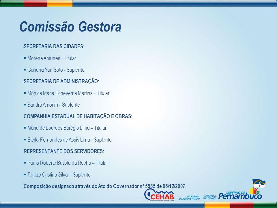 Comissão Gestora SECRETARIA DAS CIDADES: Morena Antunes - Titular