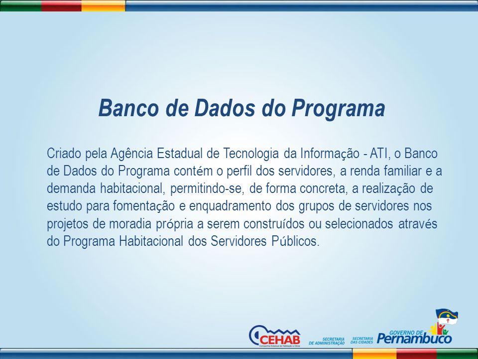 Banco de Dados do Programa