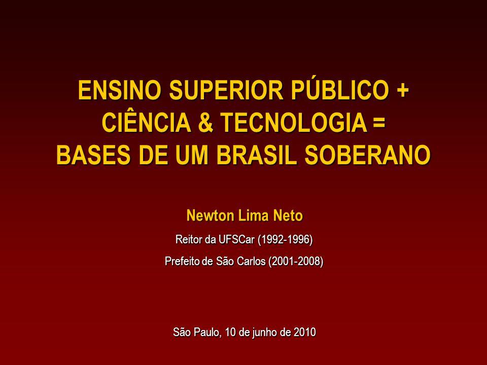 ENSINO SUPERIOR PÚBLICO + BASES DE UM BRASIL SOBERANO