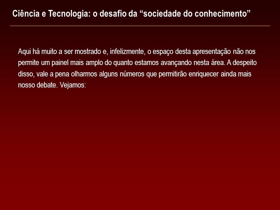 Ciência e Tecnologia: o desafio da sociedade do conhecimento