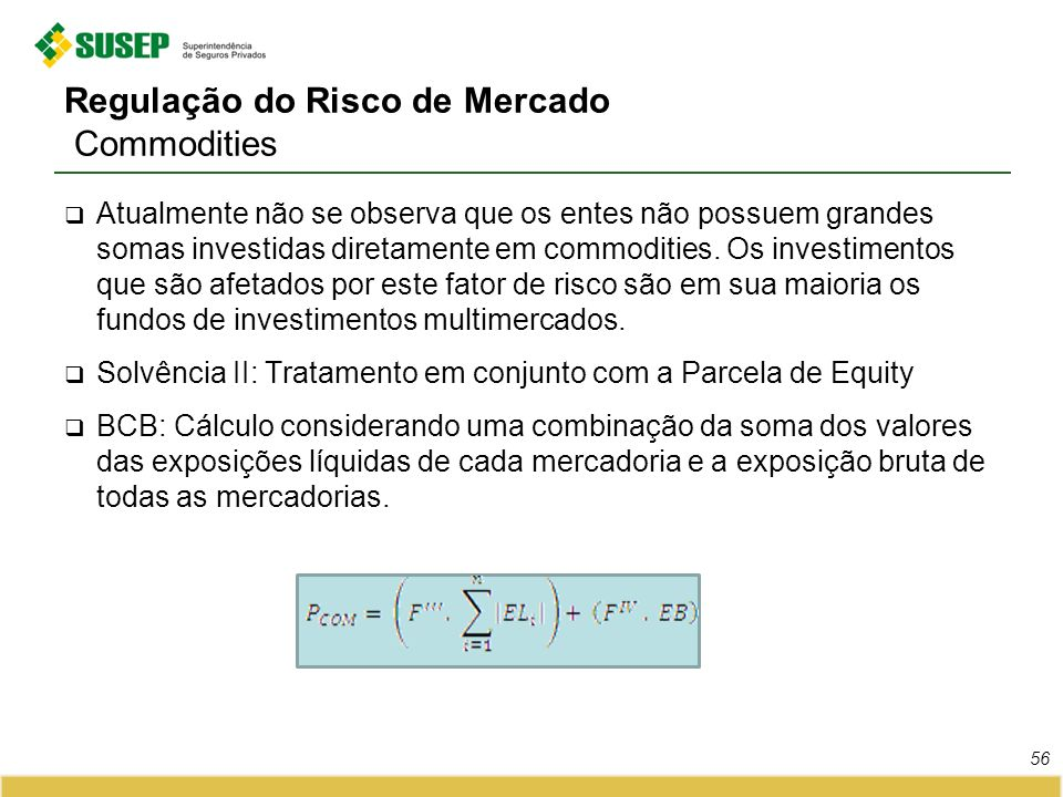 Regulação do Risco de Mercado Commodities
