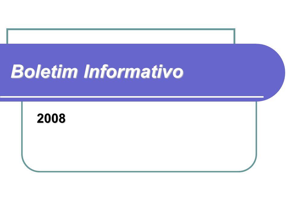 Boletim Informativo 2008