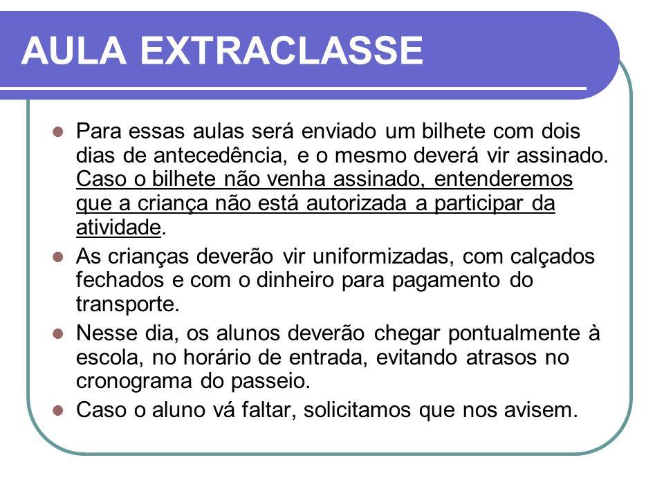 AULA EXTRACLASSE