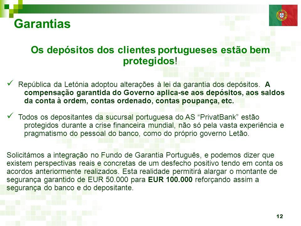Os depósitos dos clientes portugueses estão bem protegidos!