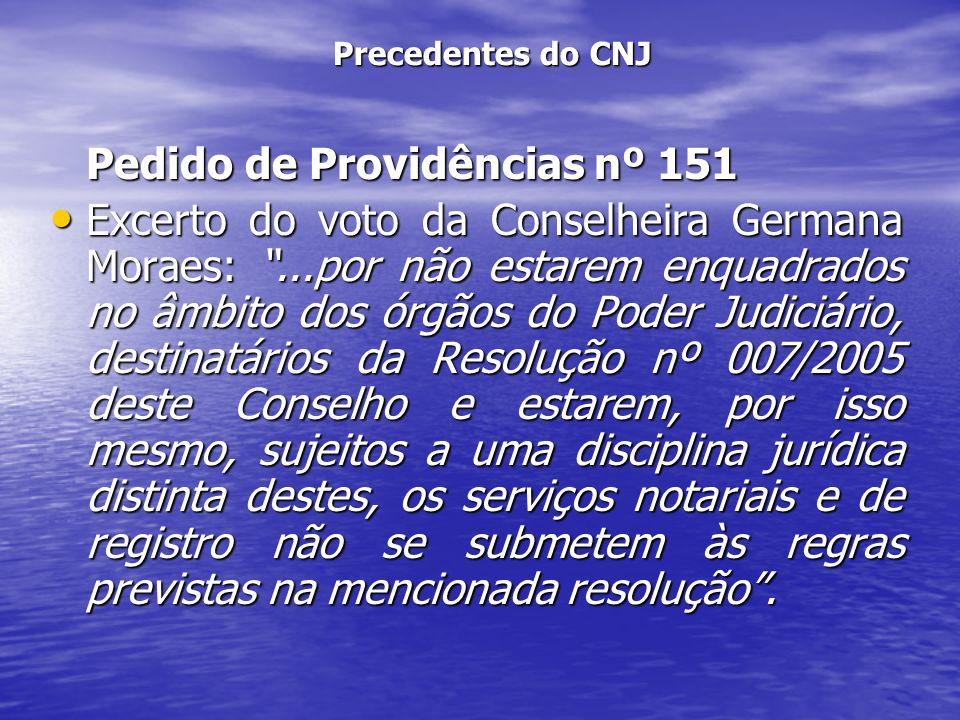 Pedido de Providências nº 151