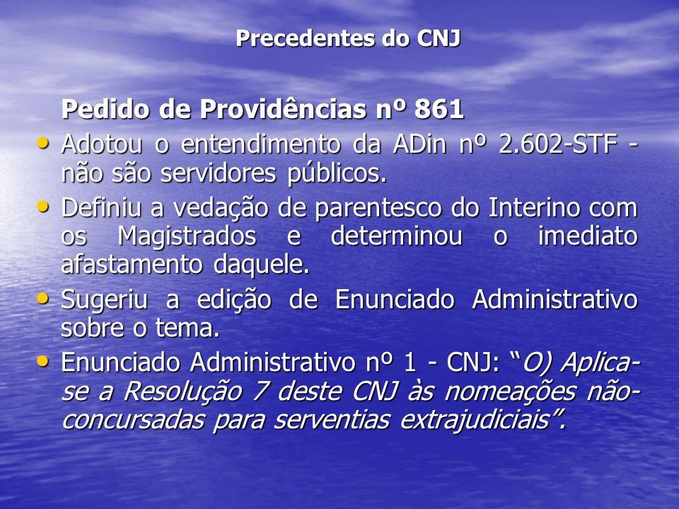 Pedido de Providências nº 861
