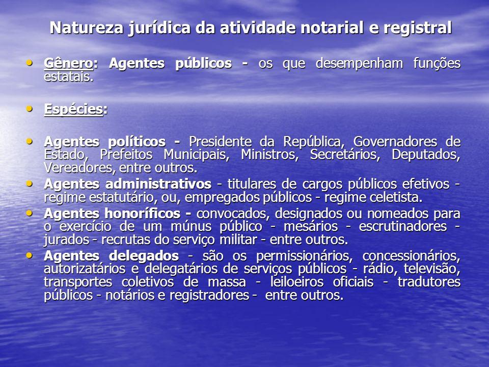 Natureza jurídica da atividade notarial e registral