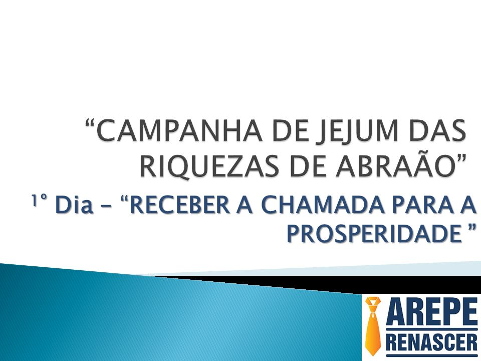 CAMPANHA DE JEJUM DAS RIQUEZAS DE ABRAÃO