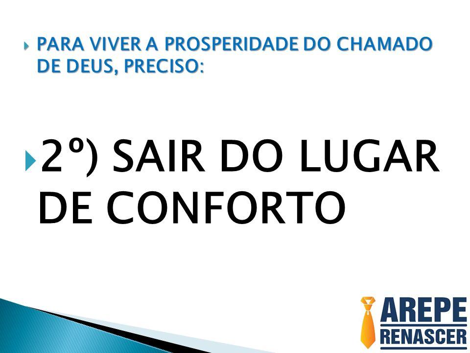 2º) SAIR DO LUGAR DE CONFORTO