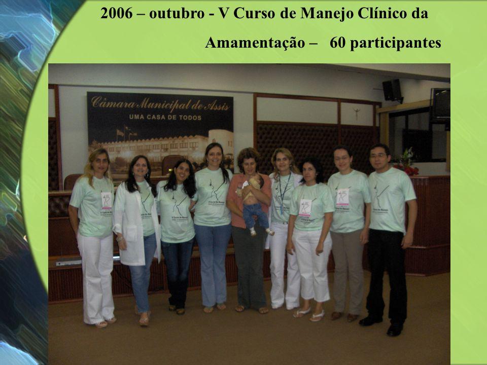 2006 – outubro - V Curso de Manejo Clínico da