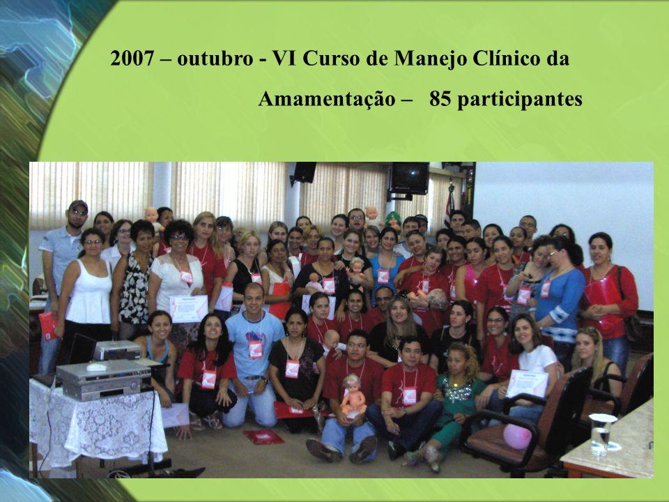 2007 – outubro - VI Curso de Manejo Clínico da