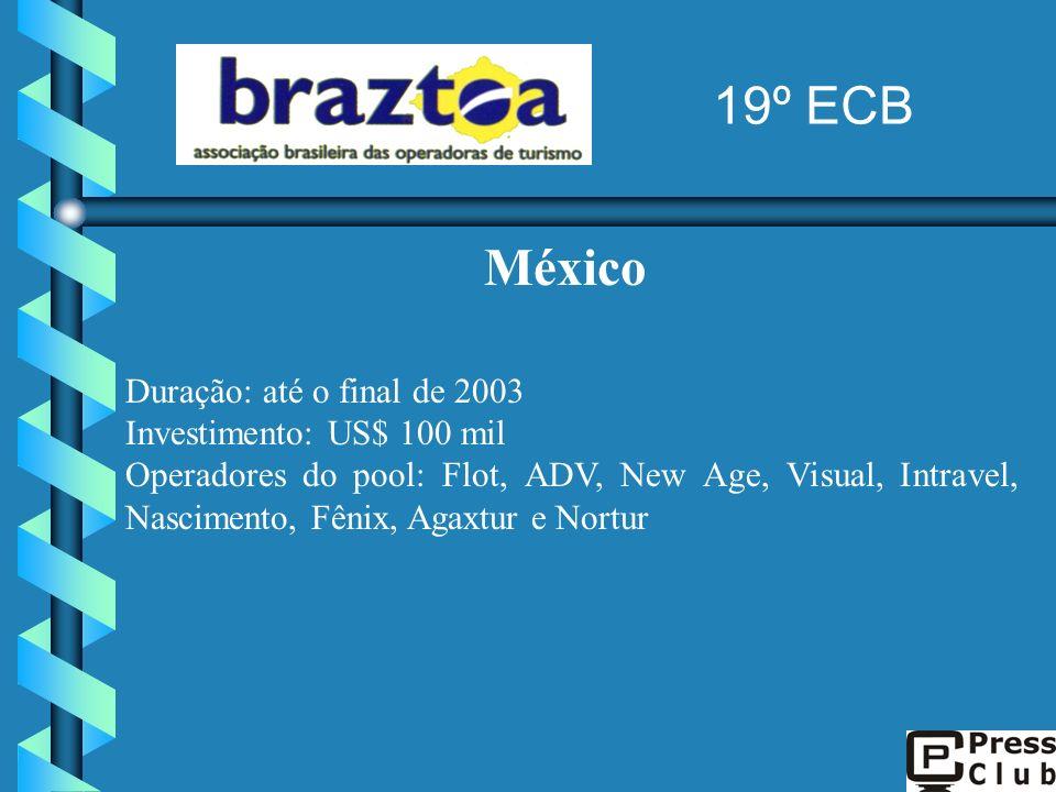 19º ECB México Duração: até o final de 2003 Investimento: US$ 100 mil