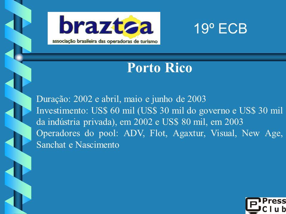 19º ECB Porto Rico Duração: 2002 e abril, maio e junho de 2003