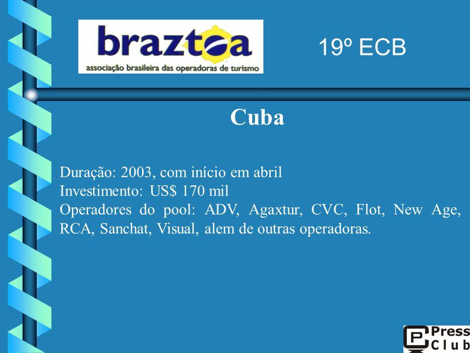 19º ECB Cuba Duração: 2003, com início em abril