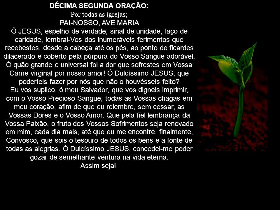 DÉCIMA SEGUNDA ORAÇÃO: