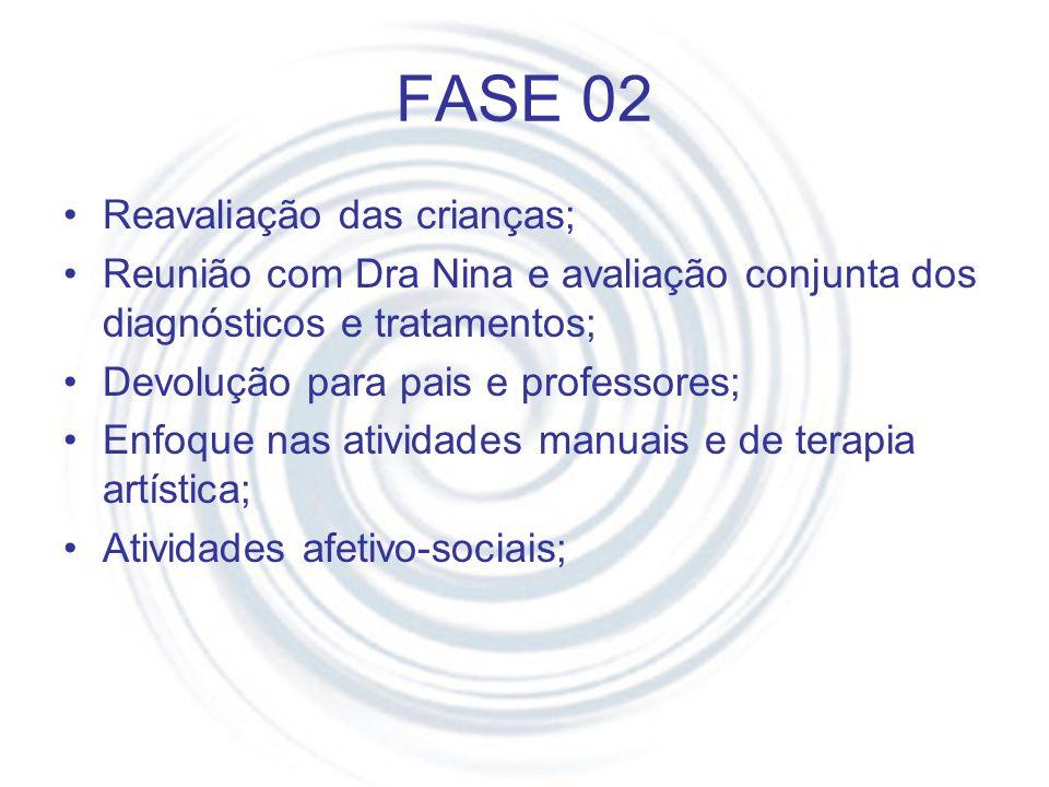 FASE 02 Reavaliação das crianças;