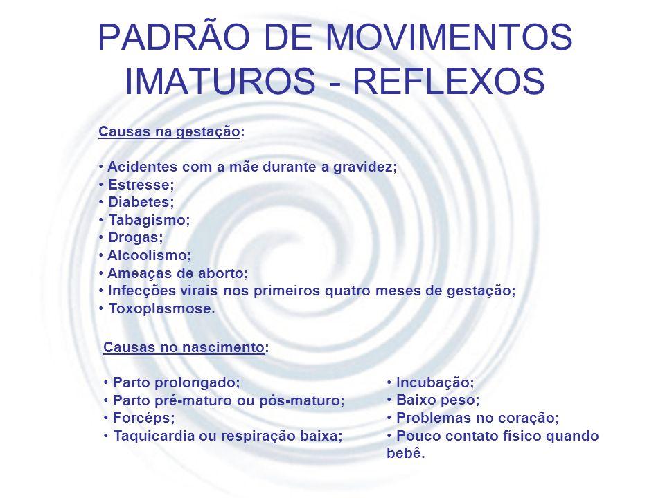 PADRÃO DE MOVIMENTOS IMATUROS - REFLEXOS