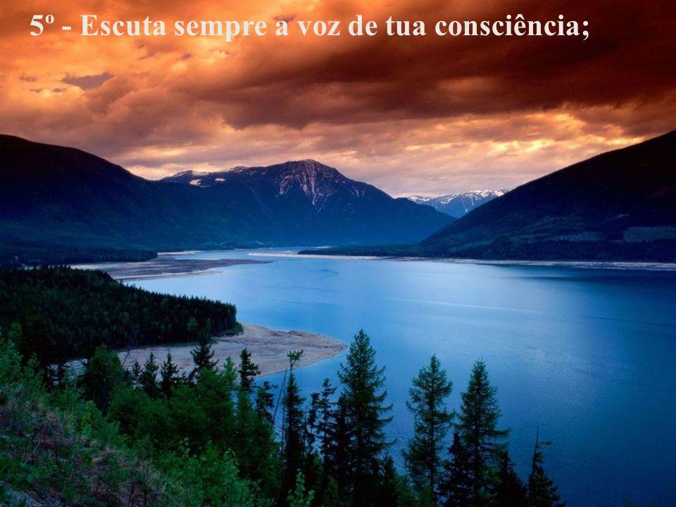 5º - Escuta sempre a voz de tua consciência;