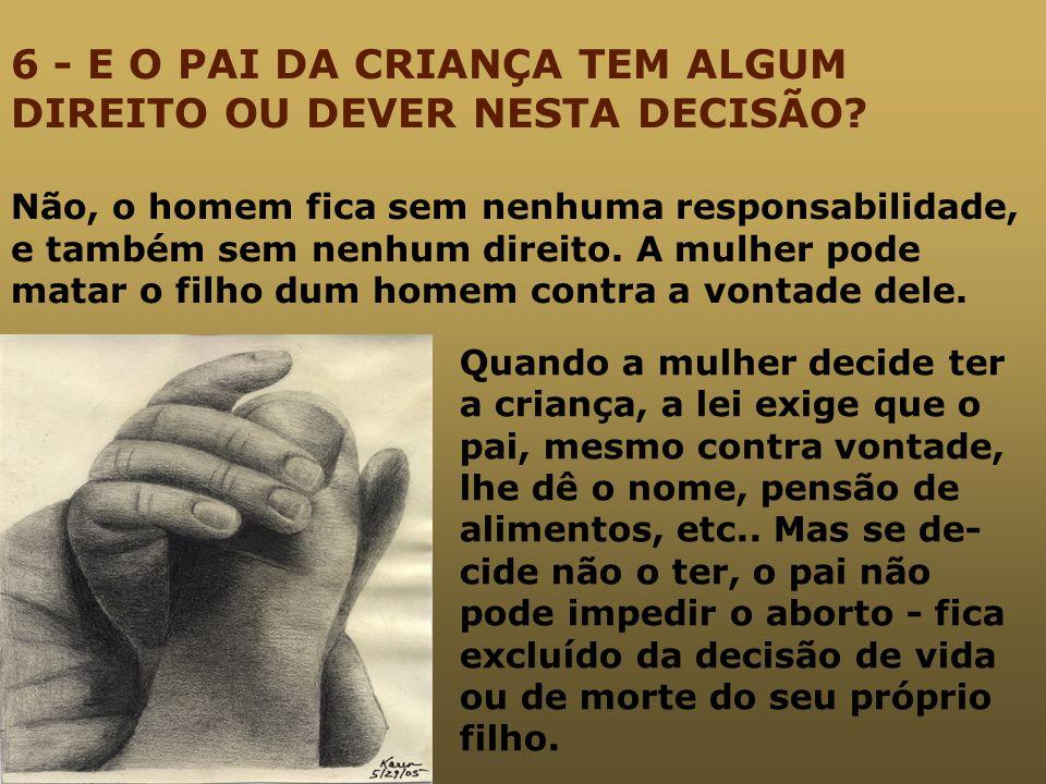6 - E O PAI DA CRIANÇA TEM ALGUM DIREITO OU DEVER NESTA DECISÃO