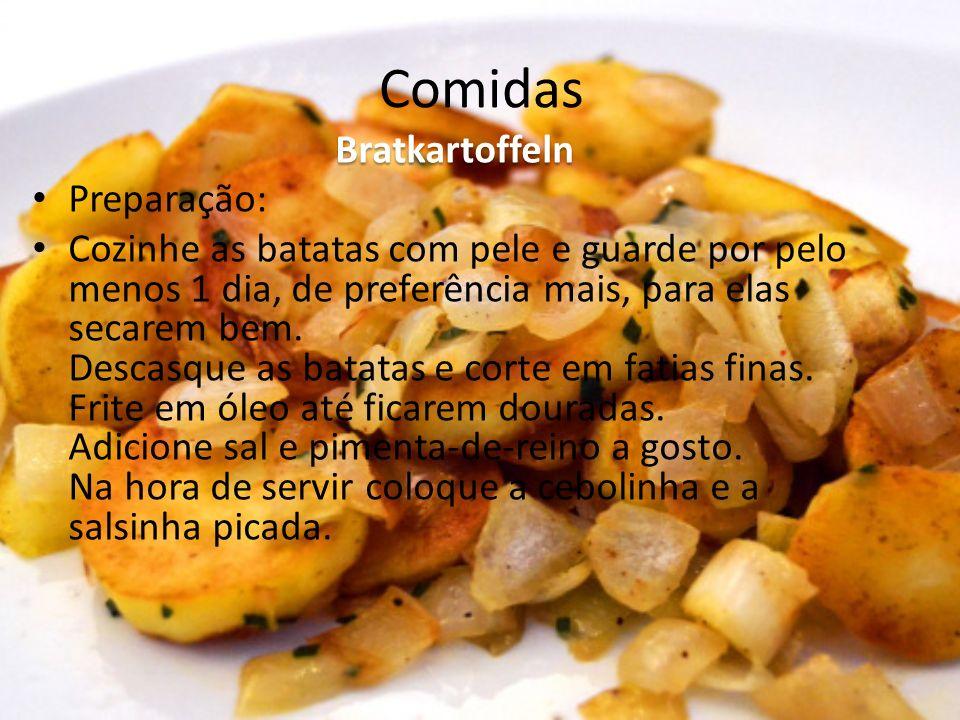 Comidas Bratkartoffeln Preparação: