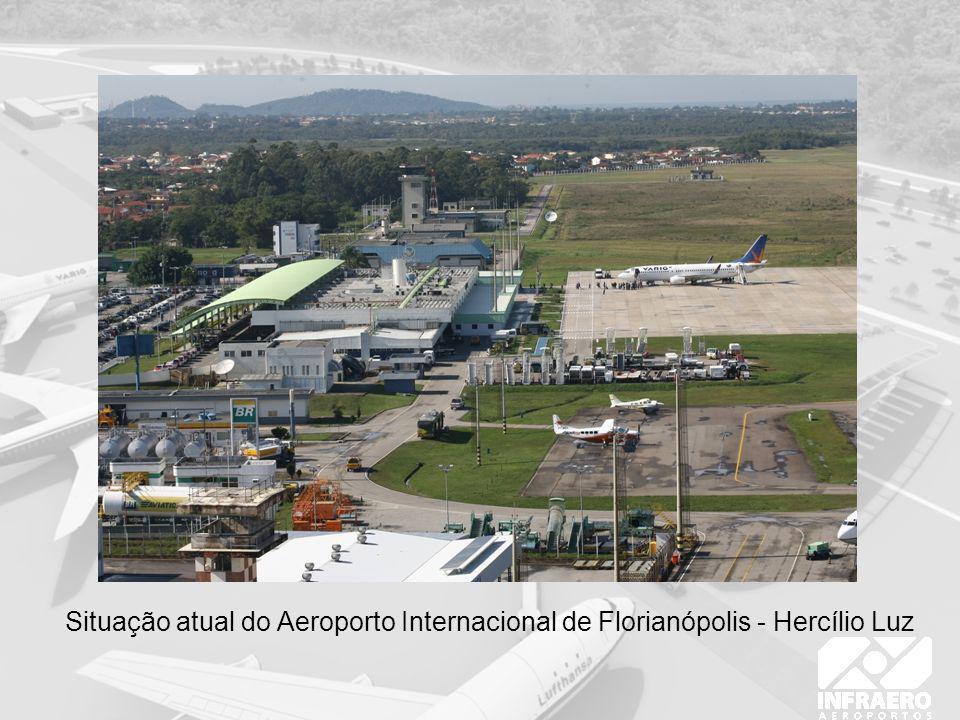 Situação atual do Aeroporto Internacional de Florianópolis - Hercílio Luz