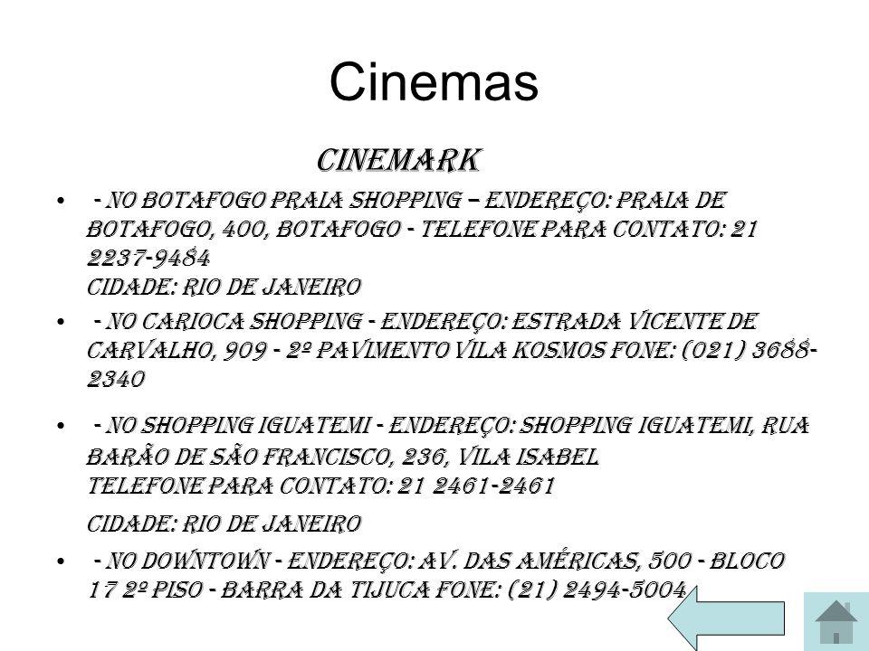 Cinemas Cinemark.