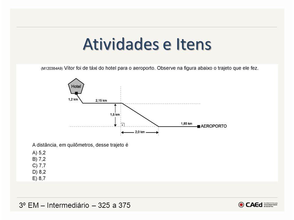 Atividades e Itens 3º EM – Intermediário – 325 a 375