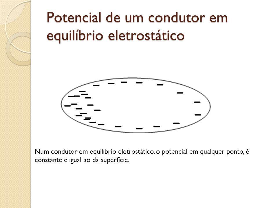 Potencial de um condutor em equilíbrio eletrostático