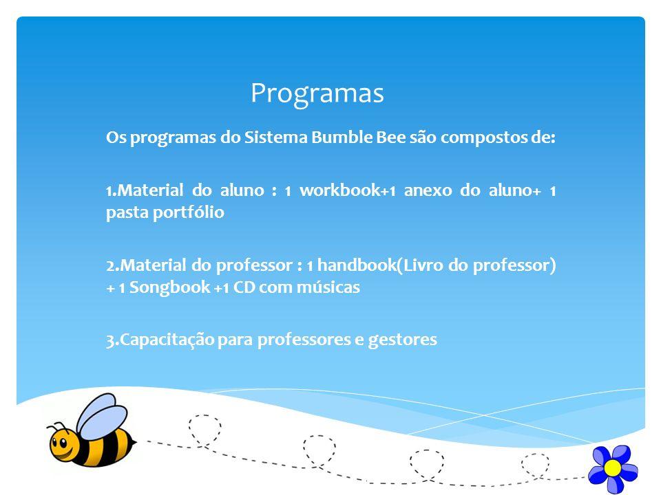 Programas Os programas do Sistema Bumble Bee são compostos de:
