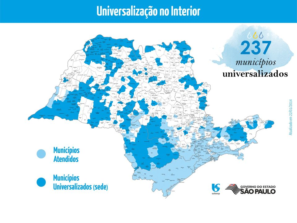 237 municípios universalizados