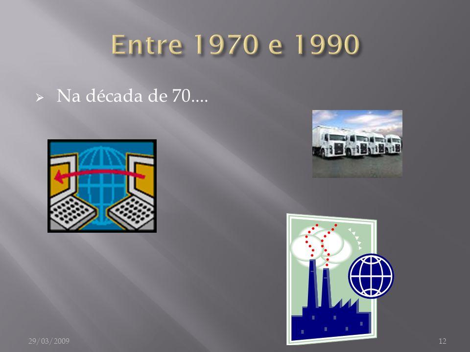 Entre 1970 e 1990 Na década de 70.... 29/03/2009