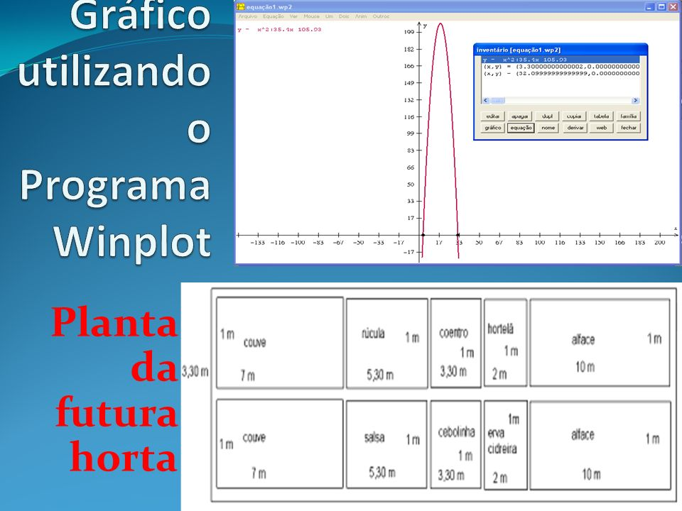 Gráfico utilizando o Programa Winplot
