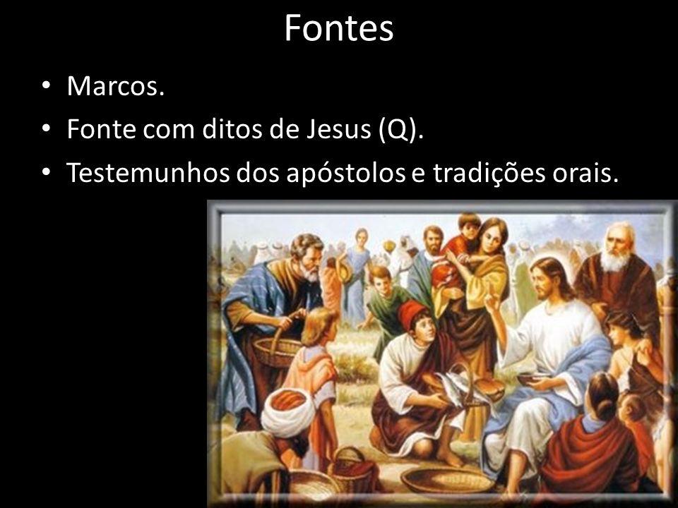 Fontes Marcos. Fonte com ditos de Jesus (Q).