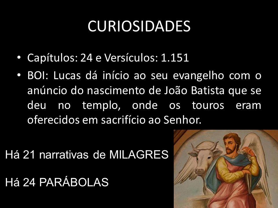 CURIOSIDADES Capítulos: 24 e Versículos: 1.151