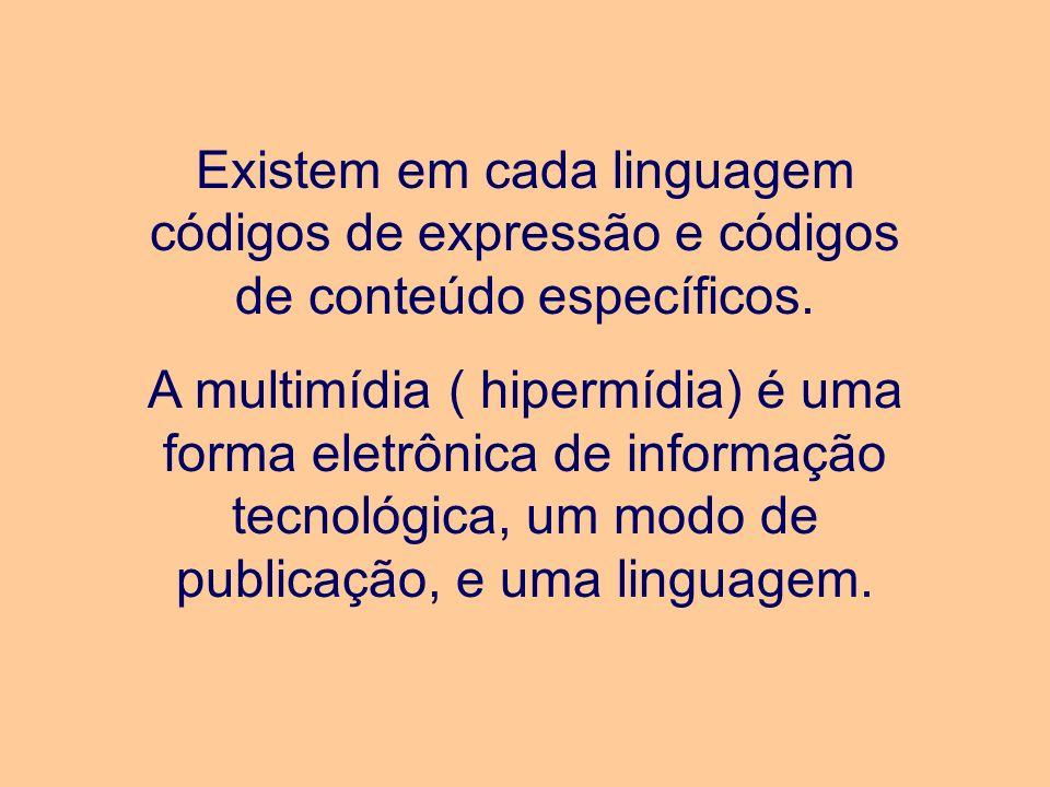 Existem em cada linguagem códigos de expressão e códigos de conteúdo específicos.