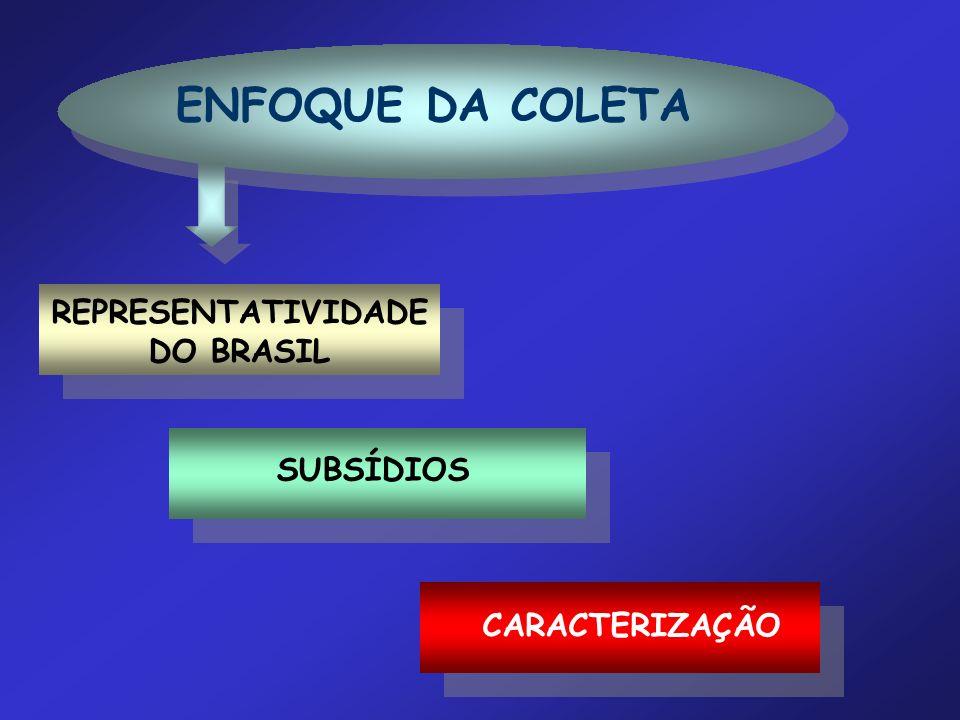 REPRESENTATIVIDADE DO BRASIL