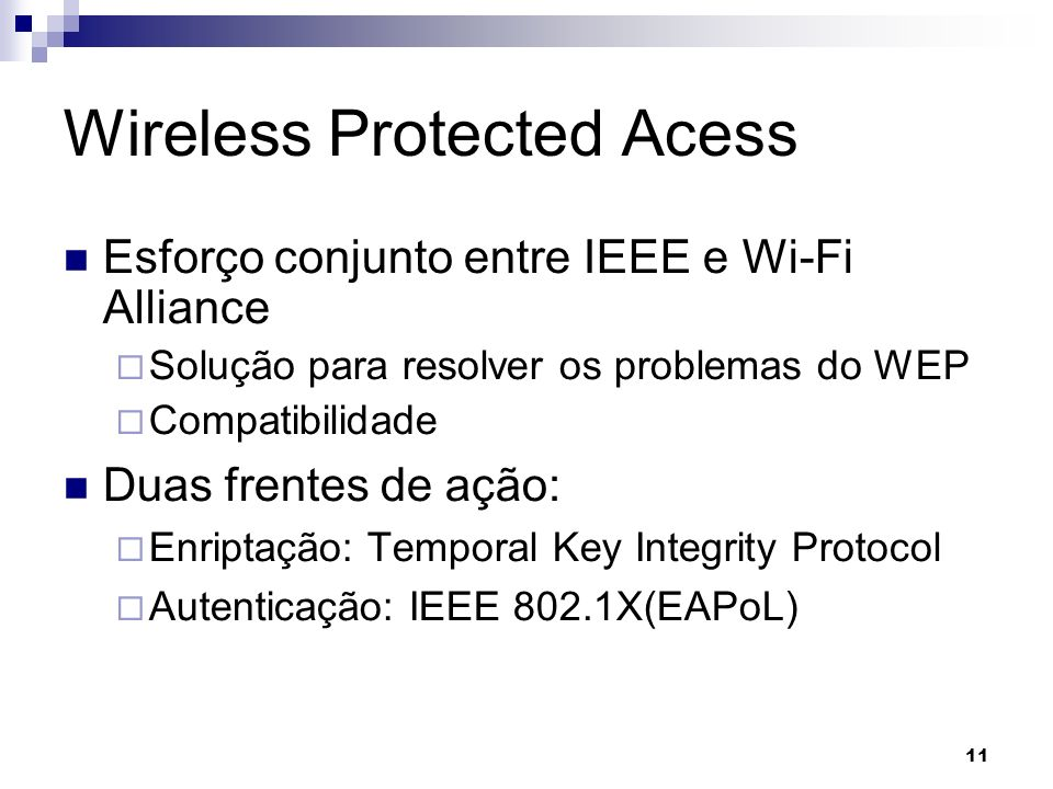 Wireless Protected Acess