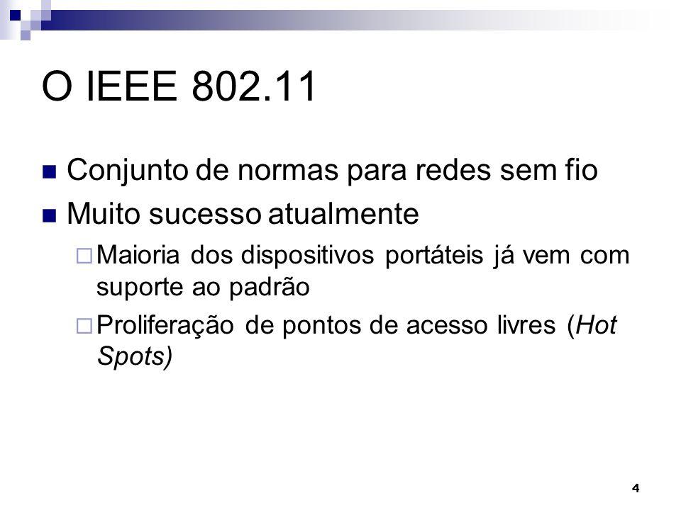 O IEEE 802.11 Conjunto de normas para redes sem fio