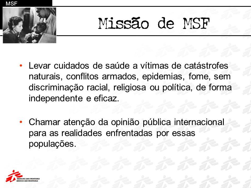 MSF Missão de MSF.
