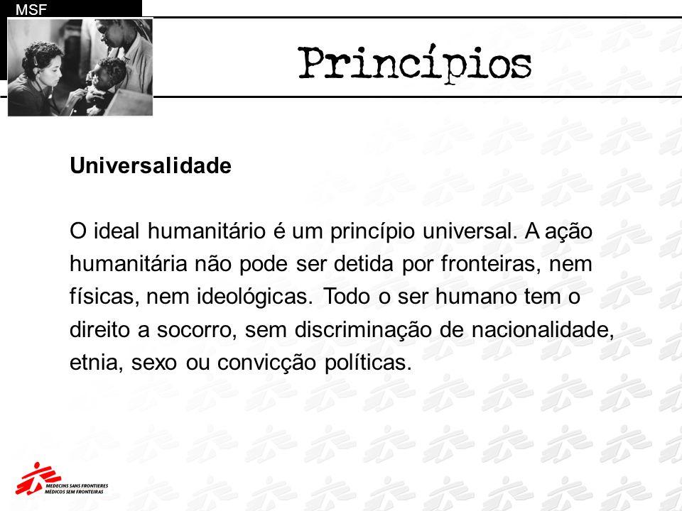 Princípios Universalidade