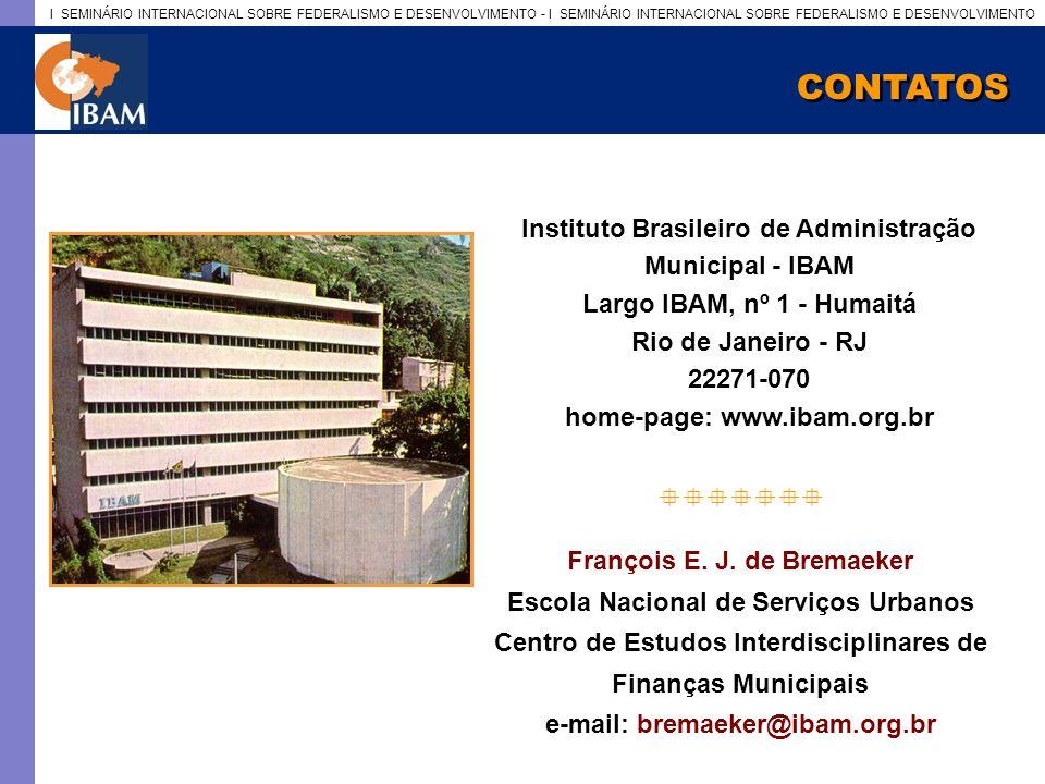 CONTATOS Instituto Brasileiro de Administração Municipal - IBAM
