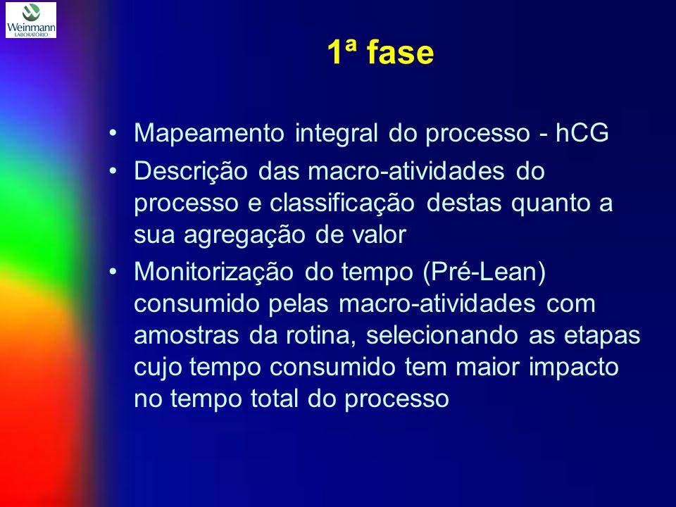 1ª fase Mapeamento integral do processo - hCG