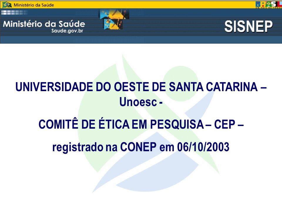 UNIVERSIDADE DO OESTE DE SANTA CATARINA – Unoesc -