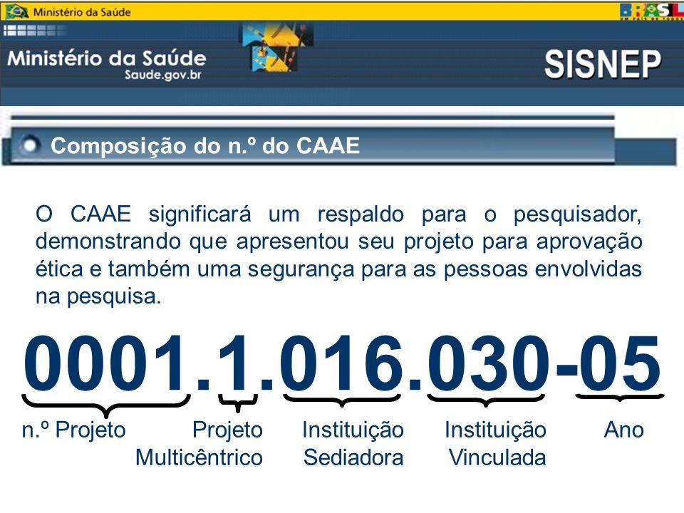 0001.1.016.030-05 Composição do n.º do CAAE