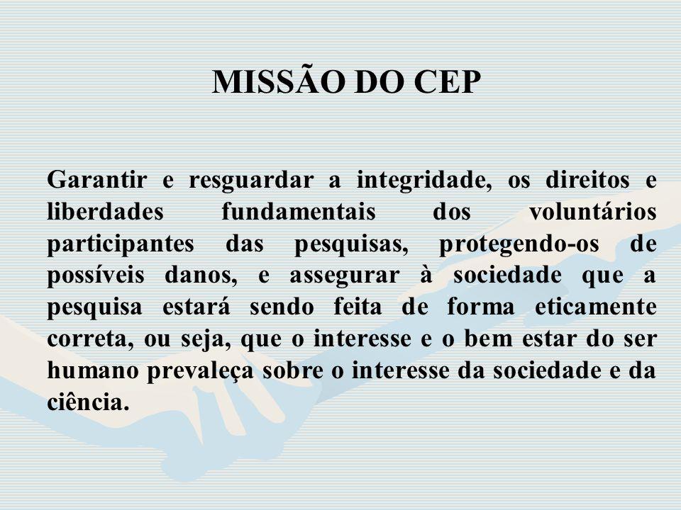 MISSÃO DO CEP