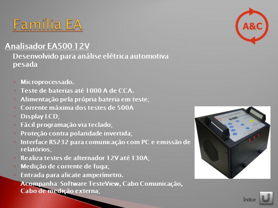 Família EA Analisador EA500 12V